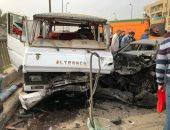 إصابة 4 أشخاص فى حادث إنقلاب سيارة ملاكى بالدائر الأوسط بالغردقة