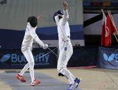 صور وفيديو.. انطلاق منافسات فرق 17 سنة بثالث أيام البطولة العربية للسلاح
