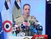المتحدث العسكرى: نشكر أهالى سيناء لتعاونهم فى توفير معلومات عن الإرهابيين