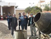 رئيس مدينة أبورديس يتفقد عملية خزان الحماية المدنية