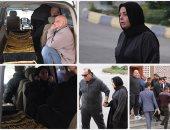 تشييع جثمان والد الفنانة صابرين من مسجد الشرطة بالشيخ زايد