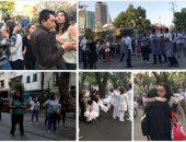ذعر بين المكسيكيين فى الشوارع بعد زلزال عنيف ضرب جنوب البلاد