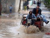 صور.. هطول الأمطار فى قطاغ عزة وتوقعات باستمرارها