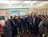 محافظ بنى سويف وعضو مجلس النواب عن حزب مستقبل وطن يتفقدان مدرسة بالواسطى