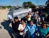 تشييع جثامين 13 شخصا بعد تحطم مروحية وزير الداخلية بالمكسيك