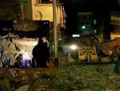 قارئ يشارك بصور انفجار تسريب الغاز بعقار كرموز فى الإسكندرية