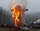 """صور.. رقص وأغانى وحلوى فى احتفالات روسيا بمهرجان """"استقبال الربيع"""""""