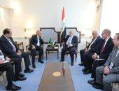 """أبو الغيط لـ""""العبادى"""": ندعم وحدة العراق وسيادته وكفاحه ضد التطرف"""