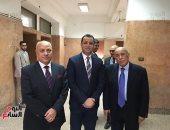 """بالصور.. السفير جمال عبد الرحيم يحصل على الماجستير فى """"مسئولية الاحتلال"""""""