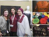 """""""أزهى"""" ماركة مصرية لـ3 سيدات نقلن التراث الصعيدى على الحقائب والملابس"""