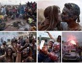 انطلاق مهرجان حرب الدقيق الملون فى اليونان