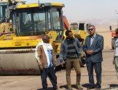 """صور.. رئيس أبورديس يتفقد الطريق الدولى """"النفق - شرم الشيخ"""""""