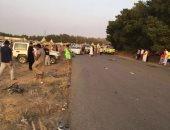 إصابة 10 أشخاص فى حادث انقلاب سيارة ميكروباص على الطريق الزراعى بالبحيرة