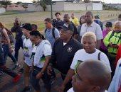 """صور..رئيس جنوب أفريقيا """"بالترنج"""" خلال ماراثون مع الشباب فى الصباح الباكر"""
