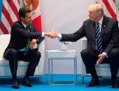 ترامب يتباحث مع الرئيس المكسيكى فى الهجرة والتجارة والأمن
