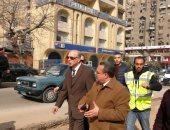 محافظ القاهرة يتفقد أعمال تطوير محور عباس العقاد