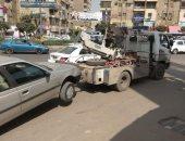 المرور يضبط 11 سيارة و دراجة بخارية متروكة فى حملات بالجيزة