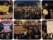 احتجاجات حاشدة فى باريس ضد مشروع قانون الهجرة الجديد