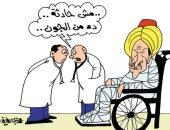 """""""الجون المصرى"""" فى الغاز يصيب أردوغان فى مقتل بكاريكاتير """"اليوم السابع"""""""