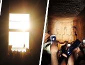 العالم يشهد تعامد الشمس على قدس الأقداس بأبوسمبل.. 3 وزراء و3000 سائح يشهدون الظاهرة.. وفد يابانى يحجز مكان أول المشاهدين قبلها بـ5ساعات.. ووزير الآثار: إلغاء احتفالية اكتشاف المعبد احتراما لأرواح الشهداء.. صور