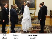 السيسي يتسلم أوراق اعتماد 11 سفيرا بينهم فلسطين وليبيا ونيجيريا وأوغندا