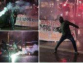 اشتباكات عنيفة بين الشرطة الإيطالية ومحتجين ضد حركة اليمين المتطرفة