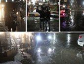 أمطار غزيرة بالقاهرة والجيزة.. والمرور تناشد المواطنين توخى الحذر