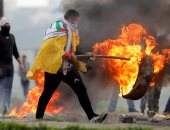صور.. إصابة طفل فلسطينى بالرصاص خلال مواجهات مع الاحتلال غرب رام الله