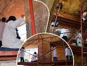 شاهد أعمال الترميم والصيانة بمعبد الإبت قبل افتتاحه للجمهور