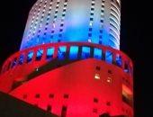 فندق وسط الأردن يكتسى بألوان علم روسيا احتفالا بذكرى تأسيس الجيش الأحمر