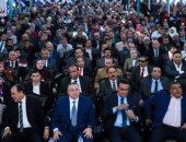 صور.. وكيل البرلمان ومعتز محمود يشاركان بمؤتمر حزب الحرية لدعم السيسي بالانتخابات