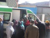 قوافل جامعة المنوفية تلتقي بفرق التمريض بالوحدات الصحية بقرية الراهب وسنتريس