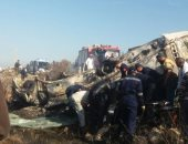 فيديو وصور.. تفحم 8 جثث نتيجة حريق أتوبيس على الطريق الدولى بالإسكندرية
