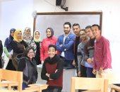 حازم عبد الصمد يشارك بندوة حول فنون التصوير لطلاب محاكاة الكونجرس ببنى سويف
