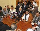 """بدء اجتماع موسى مصطفى موسى مع """"القبائل العربية"""" بالسلام الجمهورى(صور)"""