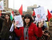 صور.. احتجاجات فى كردستان العراق ضد الهجوم التركى على عفرين السورية