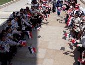 """صور.. مسيرة """"فى حب مصر"""" لغرس الروح الوطنية بالفتيات فى بورسعيد"""