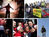 صور..العالم هذا الصباح..مظاهرات تستقبل وفد كوريا الشمالية عقب وصوله سول لحضور الحفل الختامى للأولمبياد.. الصينيون يطلقون الألعاب النارية لقتل الأرواح الشريرة.. وانطلاق مناورات عسكرية فى فنزويلا بمشاركة المدنيين