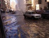 """""""مياه الشرب"""" ترد على كسر ماسورة فى شارع جسر السويس اتجاه الألف مسكن"""