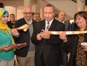 رئيس جامعة السويس يفتتح معرض الكتاب بكلية الأداب