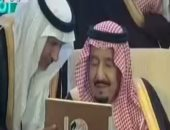 """الملك سلمان يصل مقر تدريبات """"درع الخليج"""" لحضور الفعالية بحضور القادة العرب"""