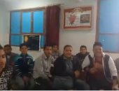"""فيديو.. طلاب مدرسة طامية بالفيوم يرددون نشيد الصاعقة المصرية """"قالوا إيه"""""""