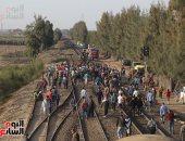 الصحة: 12 حالة وفاة و39 مصابا فى حادث تصادم قطارى البحيرة حتى الآن