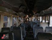 """""""إسعاف المنوفية"""" تدفع بـ12 سيارة للمشاركة فى نقل مصابى قطارى البحيرة (صور)"""