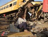 إدارة الأزمات بالنقل: ارتفاع الوفيات بحادث قطار المناشى لـ 15 حالة و40 مصابا (صور)