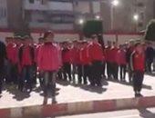 """فيديو.. طلاب مدرسة ابتدائية فى بور فؤاد يرددون نشيد الصاعقة """"قالوا إيه"""""""