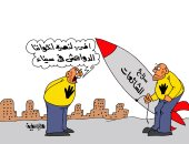 """الشائعات سلاح الإرهابيين لنصرة الدواعش بسيناء فى كاريكاتير """"اليوم السابع"""""""
