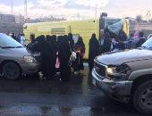صور.. إصابة 15 طالبة فى انقلاب حافلة تابعة لجامعة الملك خالد فى السعودية