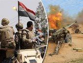 فيديو.. بيان 15للقوات المسلحة: القضاء على 16 تكفيريا فى العملية سيناء2018