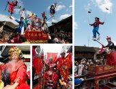 احتفالات مجنونة فى ختام كرنفال رأس السنة الصينية الجديدة بكمبوديا